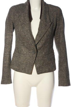 Zara Woman Kurz-Blazer braun-creme meliert Casual-Look