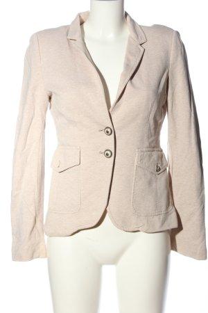 Zara Woman Kurz-Blazer creme meliert Casual-Look