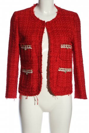 Zara Woman Kurz-Blazer rot Business-Look