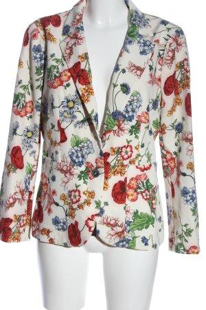 Zara Woman Kurz-Blazer Blumenmuster Casual-Look
