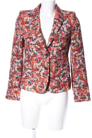 Zara Woman Kurz-Blazer Blumenmuster Business-Look
