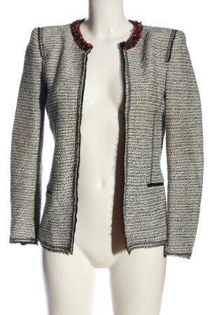 Zara Woman Kurz-Blazer hellgrau-creme meliert Business-Look