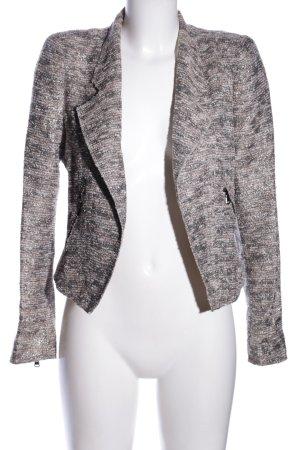 Zara Woman Kurz-Blazer hellgrau-weiß meliert Casual-Look