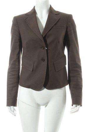 Zara Woman Kurz-Blazer dunkelbraun Street-Fashion-Look