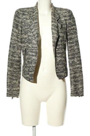 Zara Woman Kurz-Blazer weiß-schwarz Streifenmuster Casual-Look