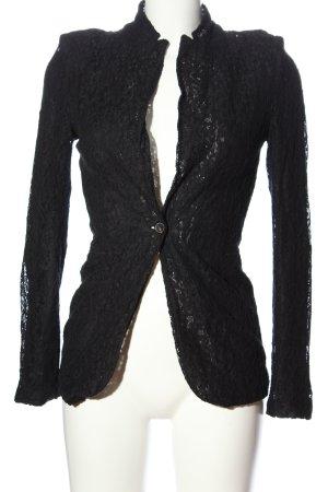 Zara Woman Long-Blazer schwarz Blumenmuster Elegant
