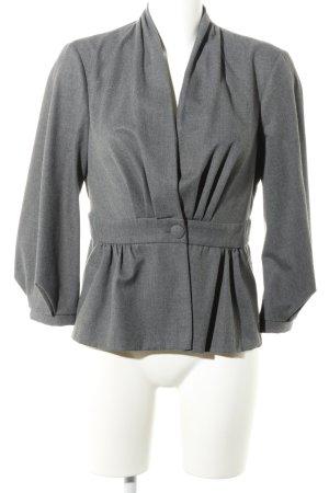Zara Woman Kurz-Blazer hellgrau meliert Casual-Look