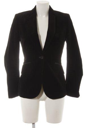 Zara Woman Kurz-Blazer goldfarben-schwarz Business-Look