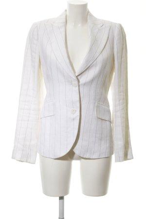 Zara Woman Kurz-Blazer weiß Streifenmuster Casual-Look