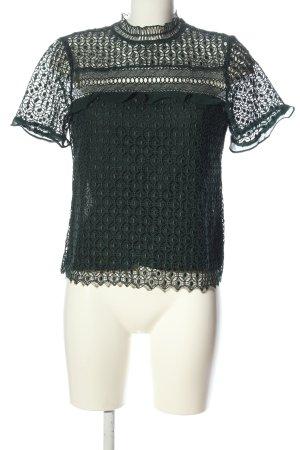 Zara Woman Kurzarm-Bluse grün Elegant
