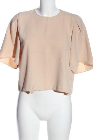 Zara Woman Kurzarm-Bluse nude Business-Look