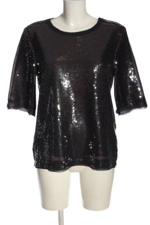 Zara Woman Kurzarm-Bluse braun Farbverlauf Elegant
