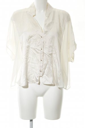 Zara Woman Kurzarm-Bluse creme Business-Look
