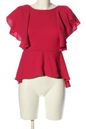 Zara Woman Kurzarm-Bluse rot Elegant