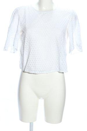 Zara Woman Kurzarm-Bluse weiß Elegant