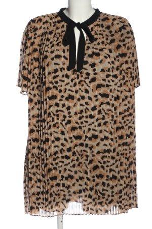 Zara Woman Kurzarm-Bluse Animalmuster Casual-Look