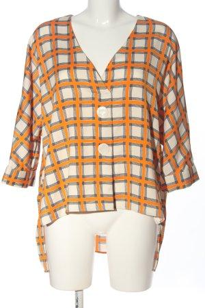 Zara Woman Kurzarm-Bluse Karomuster Business-Look