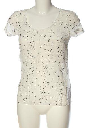 Zara Woman Kurzarm-Bluse Motivdruck Casual-Look