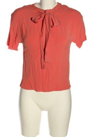Zara Woman Kurzarm-Bluse rot Casual-Look