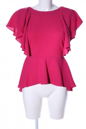Zara Woman Kurzarm-Bluse pink Casual-Look