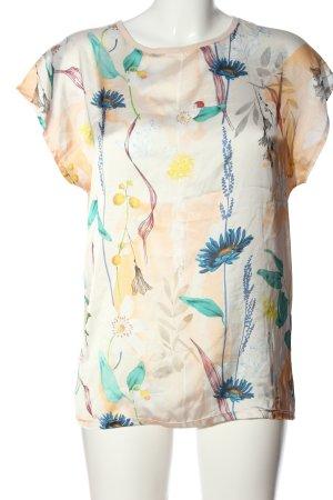 Zara Woman Kurzarm-Bluse Blumenmuster Casual-Look