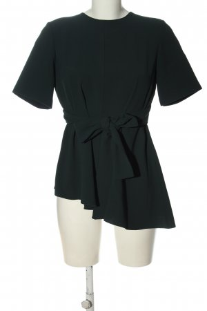 Zara Woman Kurzarm-Bluse grün Casual-Look