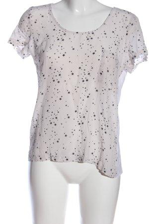 Zara Woman Kurzarm-Bluse Allover-Druck Casual-Look