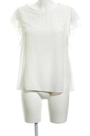 Zara Woman Kurzarm-Bluse weiß Casual-Look