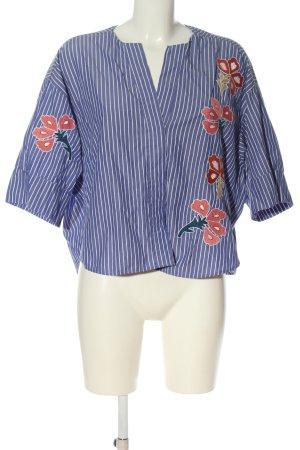 Zara Woman Short Sleeve Shirt flower pattern business style