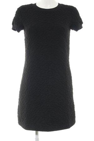 Zara Woman Kurzarmkleid schwarz Mustermix Business-Look
