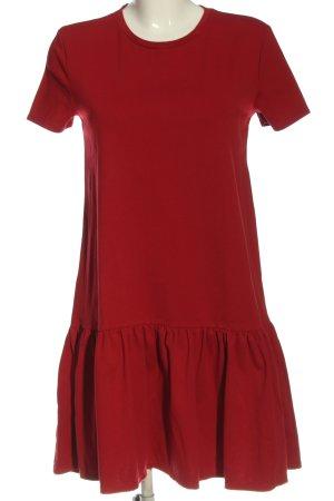 Zara Woman Kurzarmkleid rot Casual-Look