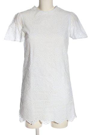 Zara Woman Kurzarmkleid weiß Elegant