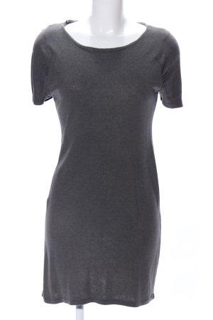 Zara Woman Kurzarmkleid hellgrau meliert Business-Look