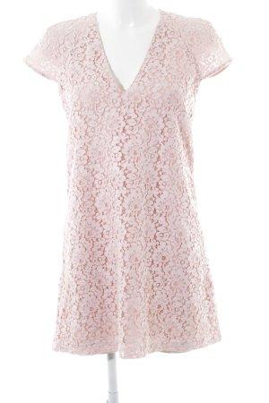 Zara Woman Kurzarmkleid rosa-rosé Blumenmuster Elegant