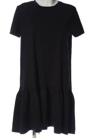 Zara Woman Kurzarmkleid schwarz Casual-Look