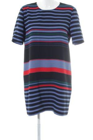 Zara Woman Kurzarmkleid Streifenmuster Casual-Look