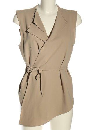 Zara Woman Anzugweste wollweiß Business-Look