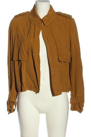 Zara Woman Kurzjacke bronzefarben Casual-Look