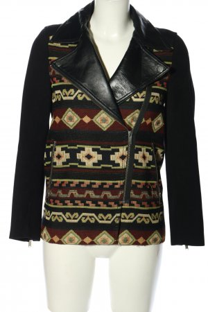 Zara Woman Kurzjacke grafisches Muster Casual-Look
