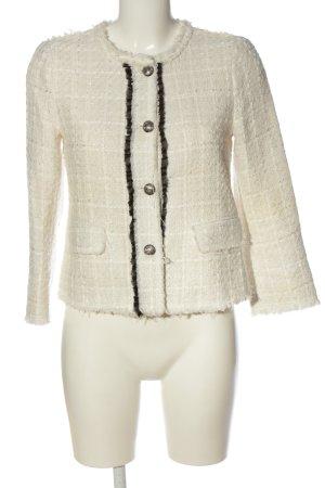 Zara Woman Kurzjacke weiß-schwarz Karomuster Casual-Look