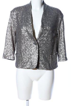 Zara Woman Kurzjacke silberfarben extravaganter Stil