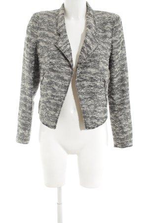 Zara Woman Kurzjacke schwarz-weiß meliert Business-Look