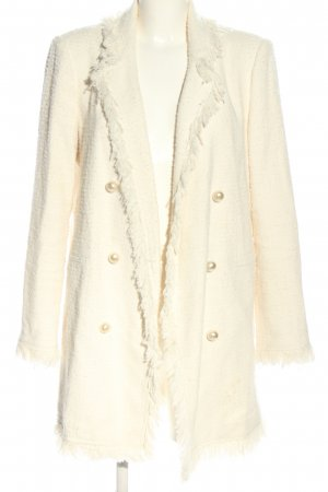 Zara Woman Kurzmantel creme Casual-Look