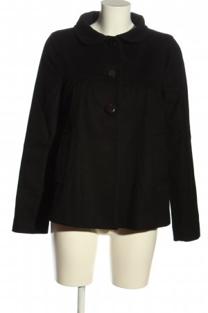 Zara Woman Kurzmantel schwarz Casual-Look