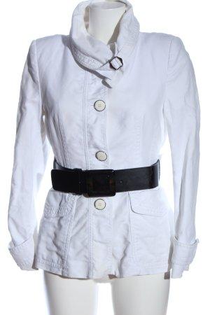 Zara Woman Kurzmantel weiß Casual-Look