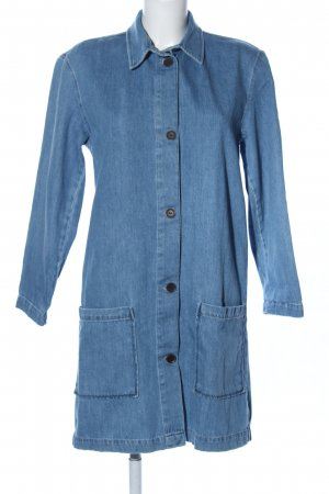 Zara Woman Kurzmantel blau Casual-Look