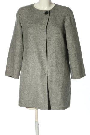 Zara Woman Kurzmantel hellgrau meliert Casual-Look