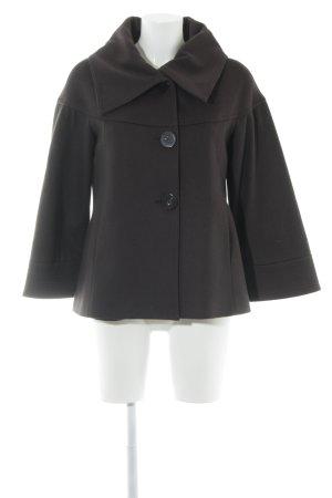 Zara Woman Kurzmantel dunkelbraun klassischer Stil