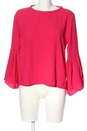 Zara Woman Langarm-Bluse pink Business-Look