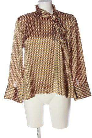 Zara Woman Langarm-Bluse Karomuster Elegant